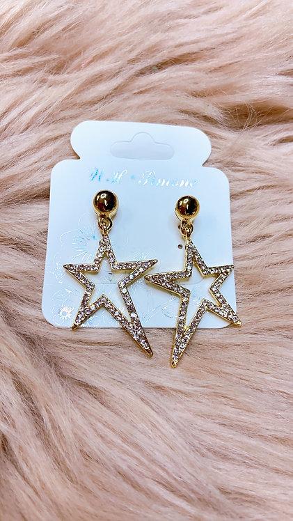 Fosty Star Earrings Gold