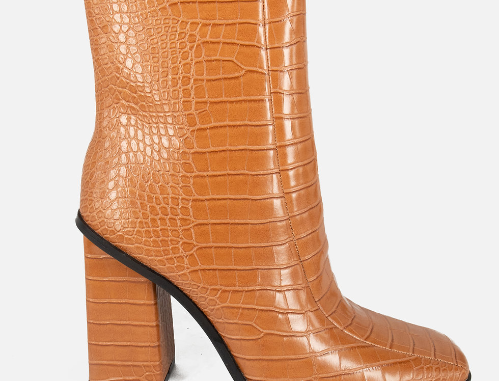 Hollywood Glam Camel Booties