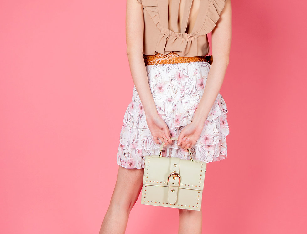 Straight From Heaven Beige Ruffled Top