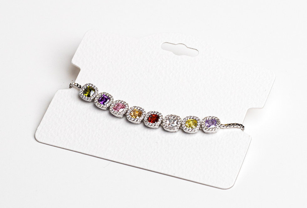 Dreaming In Colors Silver Bracelet