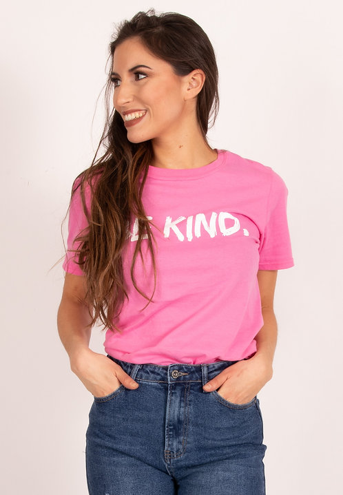 Oversized Be Kind Pink Shirt