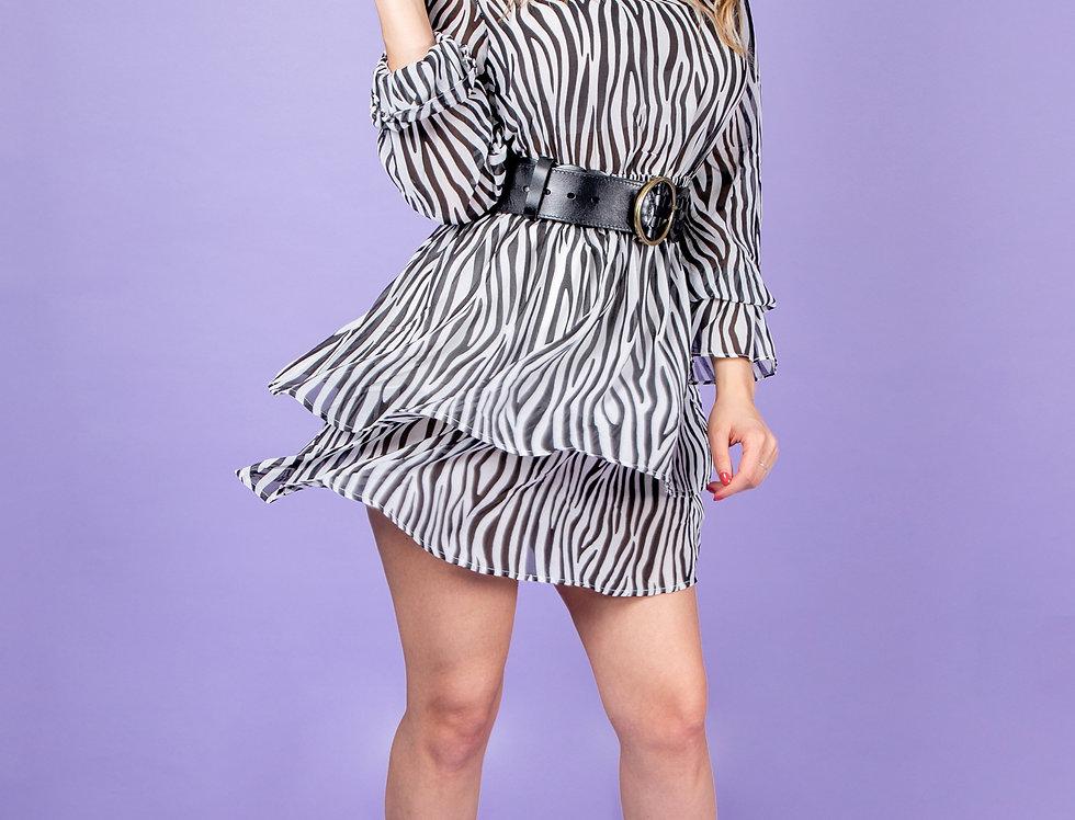 My Name Is Fabulous Zebra Dress