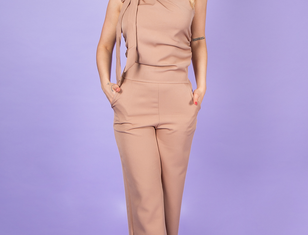 Take Me Anywhere Camel Jumpsuit