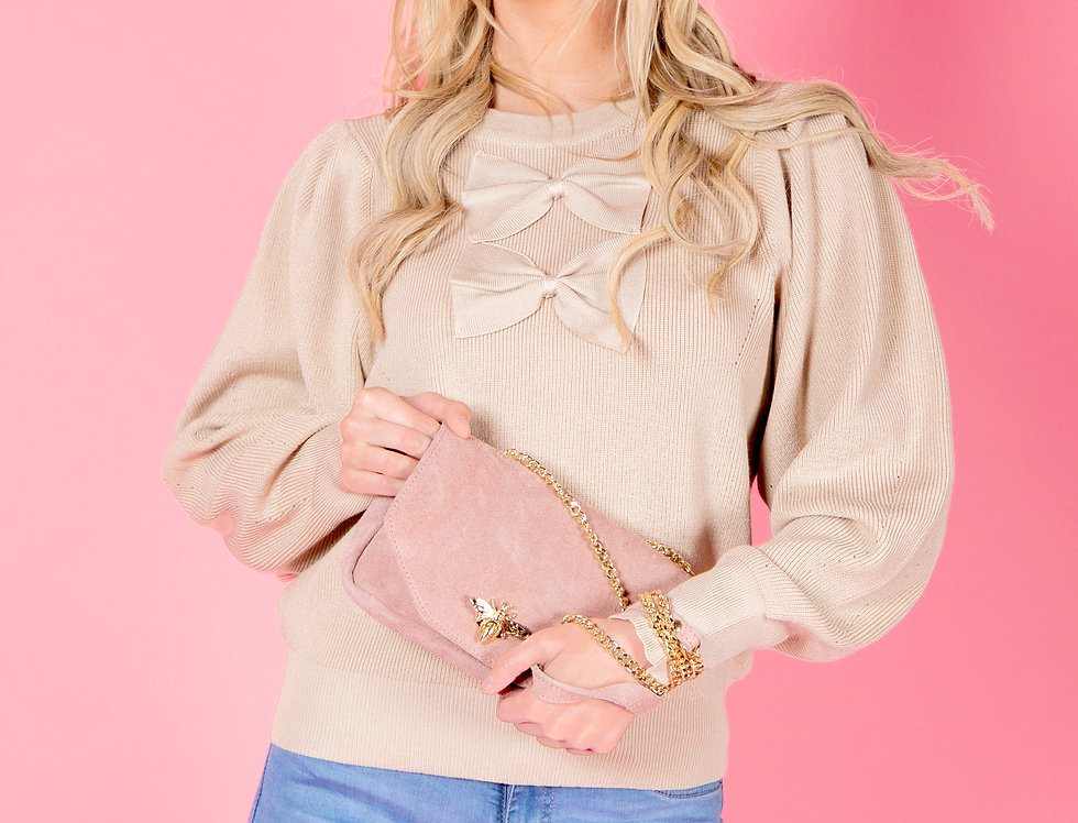 Strive For Greatness Knitted Beige Sweater