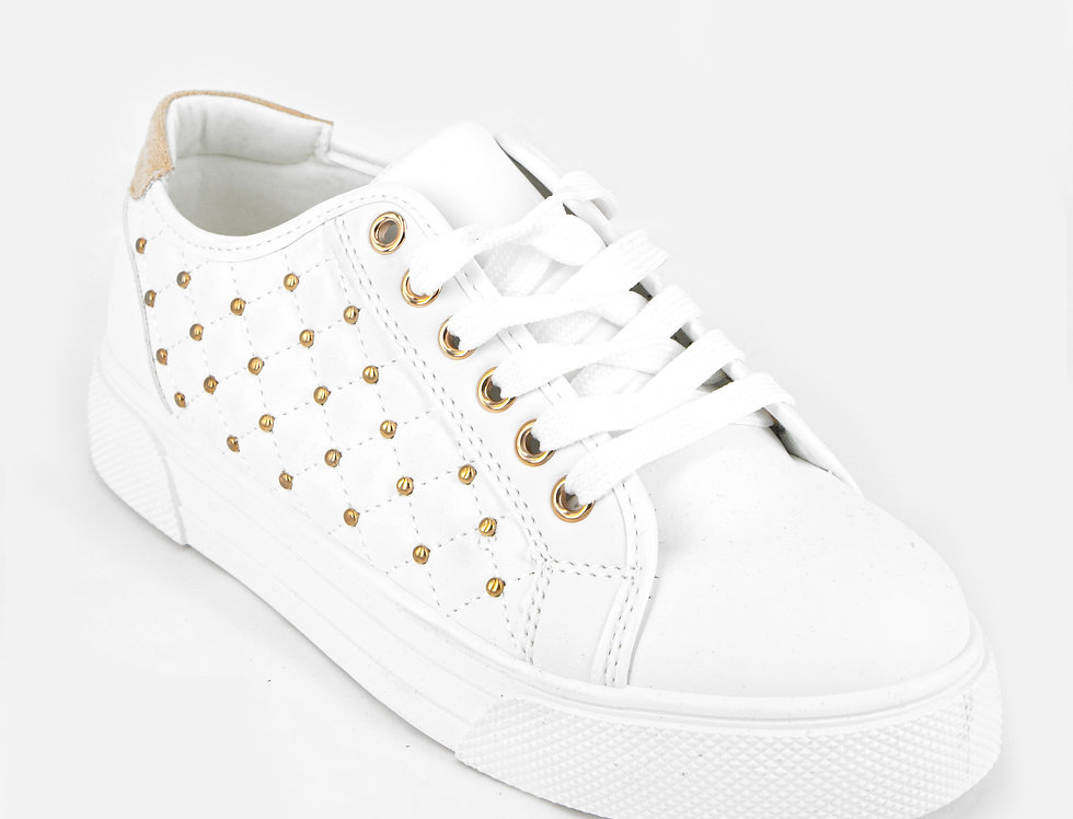 Oh So Nice Golden Studs Sneakers