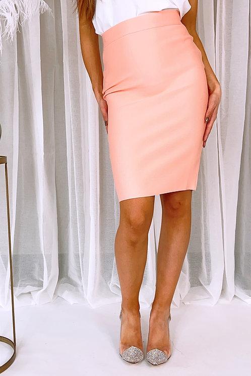Ellis Light Pink Pencil Skirt