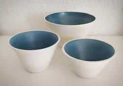 Thrown bowls by Karen
