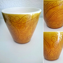 Etched tumbler by Zoé