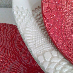 Lace texture dishes by Mehry