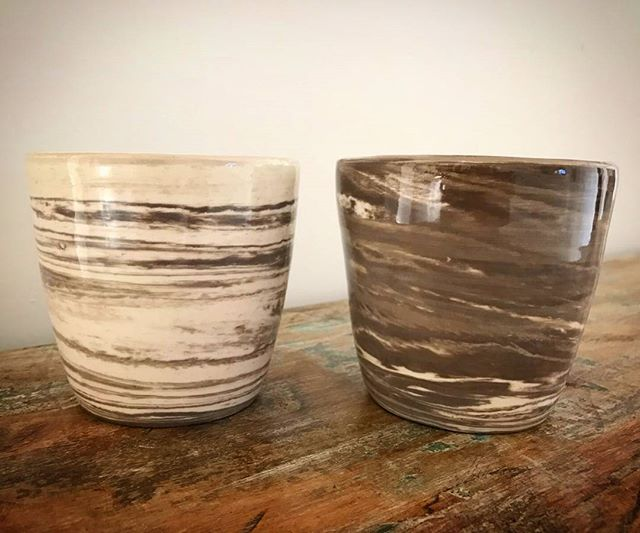 Marbled tumblers by Zoë