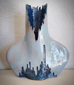 Slab buit vase by Helen B