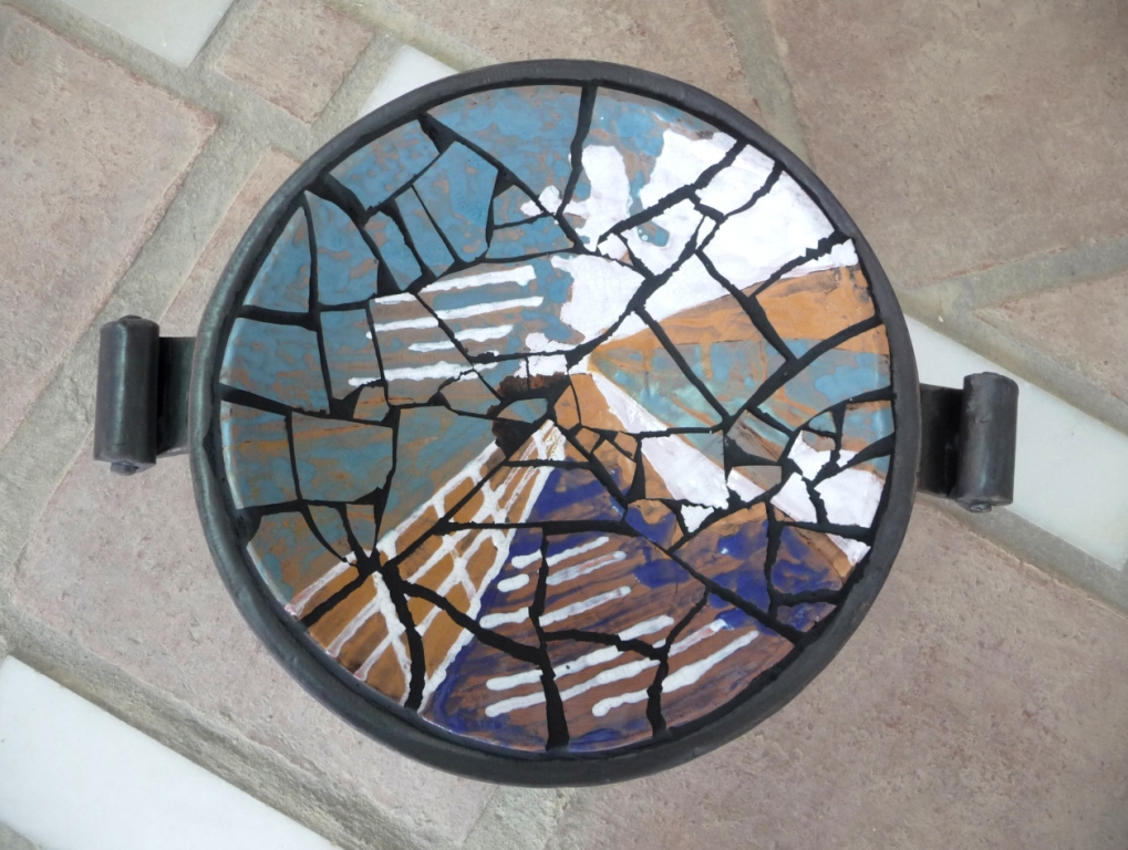 Mosaic dish by Harry