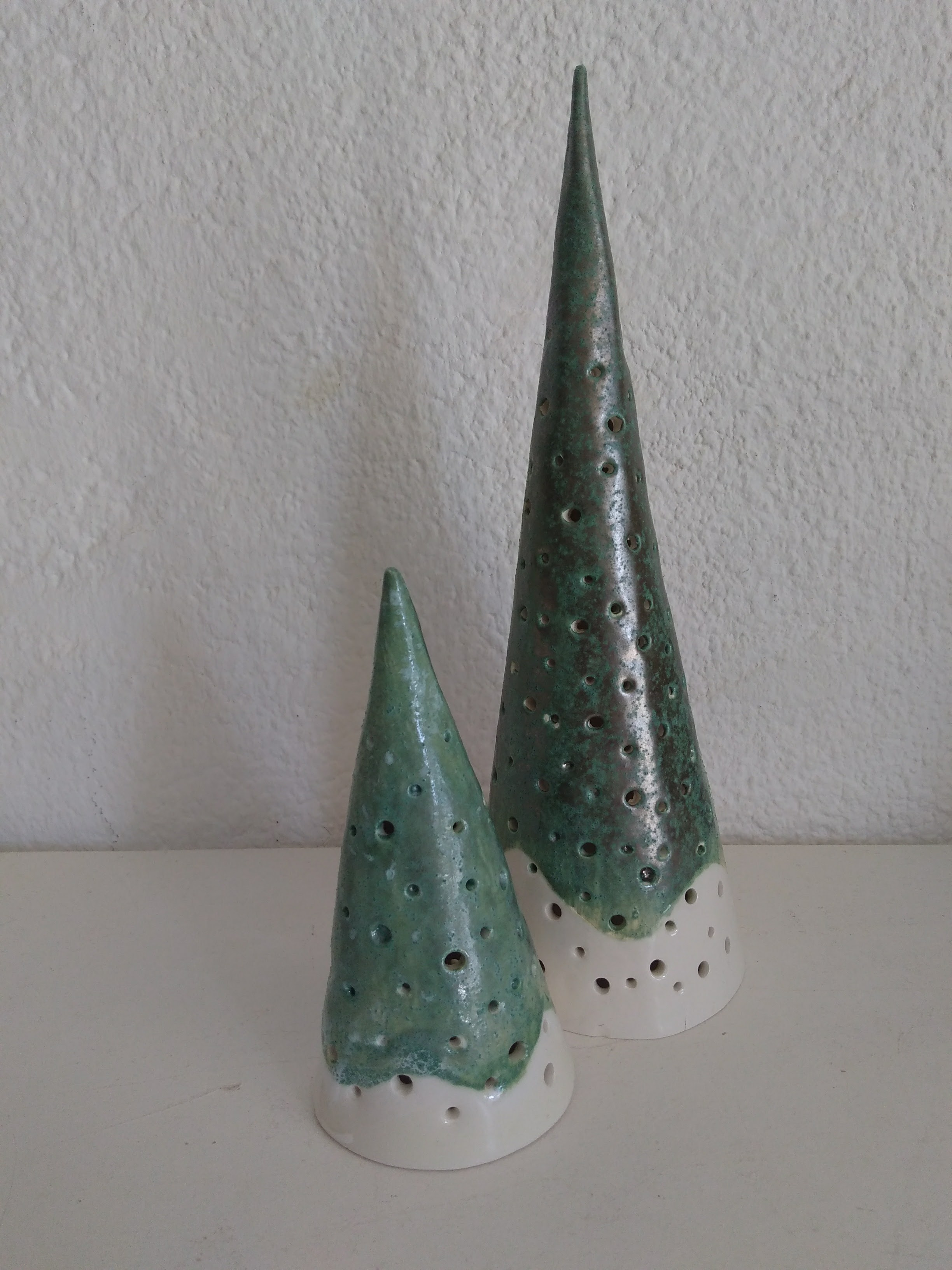 Christmas candle lamps by Karen