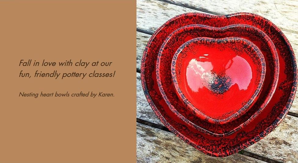 Nesting Heart Bowls by Karen