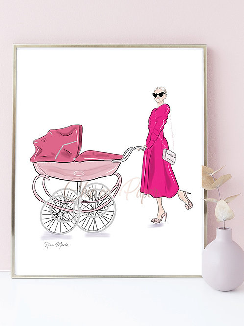 Chic on Paper Pink Stroller