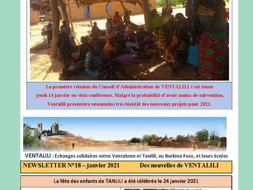 VENTALILI - La newsletter de Janvier