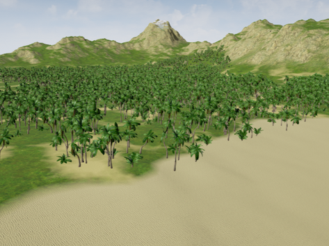 Height-based UE4 island landscape material