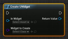 Create A UWidget At Runtime