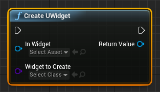 Create A UWidget At Runtime