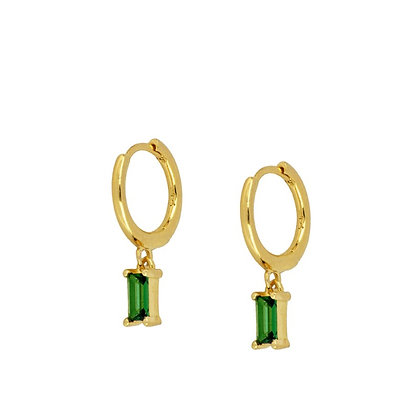 Emerald Hikka Hoops