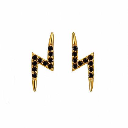 Black Bolt Earrings