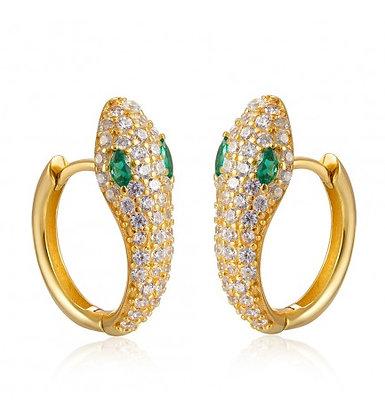 Emerald Snake hoops
