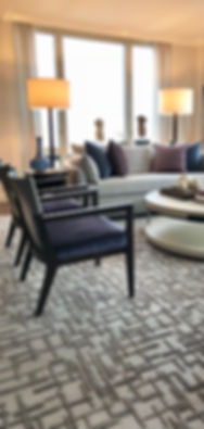 custom rug carpet geometric abstract martin patrick evan living room geometric bauhaus interior design
