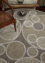 custom rug carpet midcentury circles gears martin patrick evan interior design