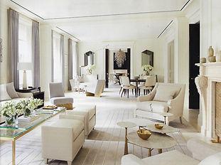 living room custom rug carpet interior design hexagon geometric martin patrick evan