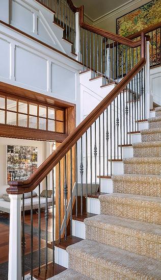 G2 interior design custom rug carpet martin patrick evan zigzag staircase stairway