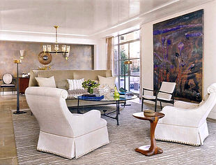 custom rug fox-nahem fox nahem associates carpet martin patrick evan stripes striped living room interior design