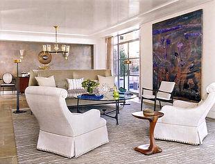 custom rug fox-nahem fox nahem associates carpet martin patrick evan stripes striped living room interior design