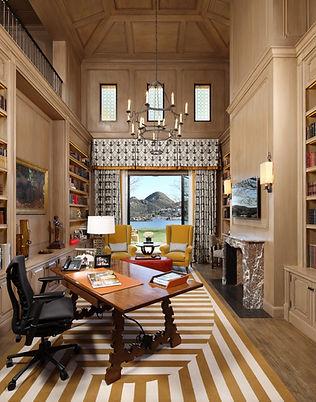 martin patrick evan custom rug carpet interior design office stripes yellow white