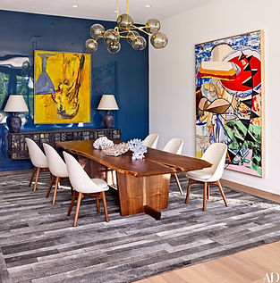 martin patrick evan custom rug carpet fox nahem associates hide rug dining room
