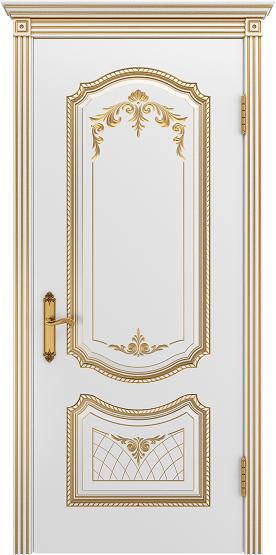 Соло ДГ эмаль белая патина золото