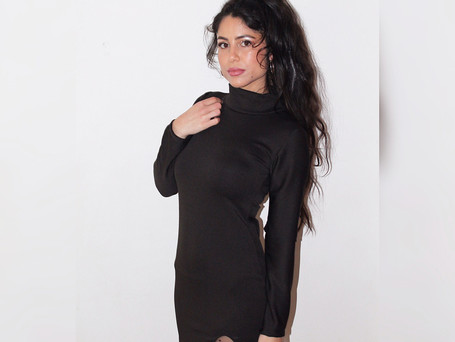 Black Slit Dress R480
