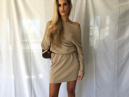 Knit Off The Shoulder Dress R499