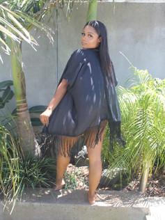 Black Kimono Short R399