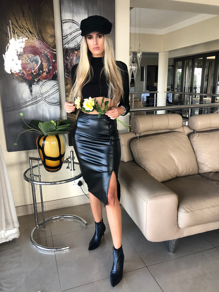 Frenchy Pleather Skirt