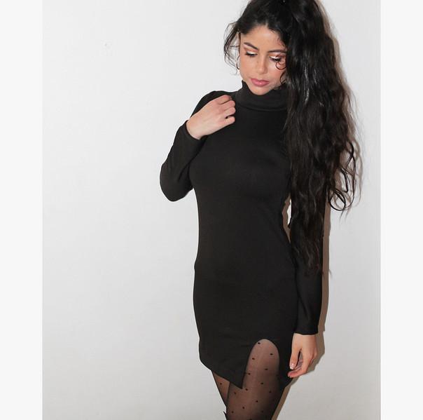 Black Slit Dress