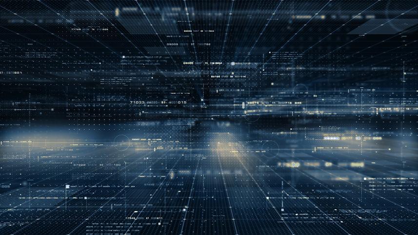 futuristic digital matrix cyber background