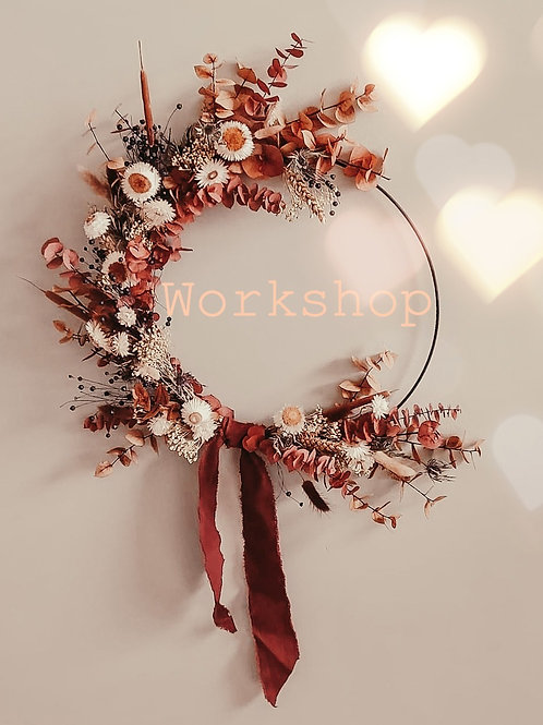 Workshop 14/02/21 ⊹ Dried Flowerhoop ⊹ V-Day