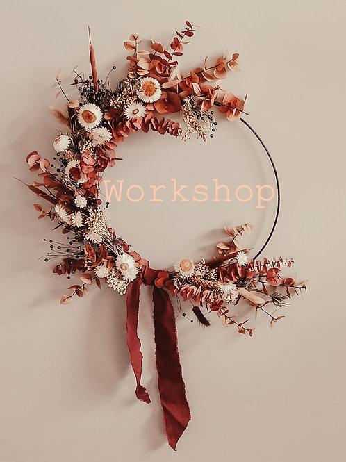 Workshop 7/03/21 ⊹ Dried Flowerhoop
