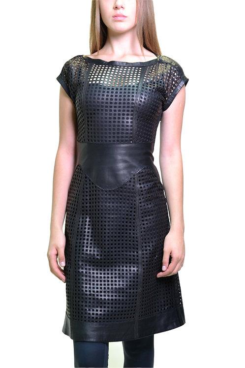 Платье из натуральной кожи
