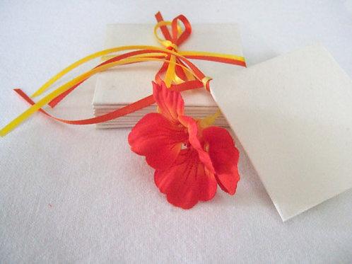 3mm Bright Yellow & 3mm Orange Red DF Satin