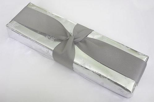 Cool Silver Grey Grosgrain