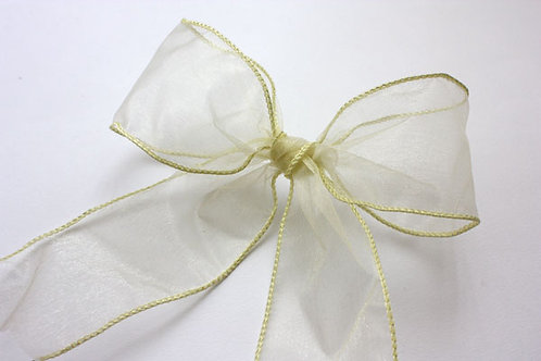 Ivory Wired Organza