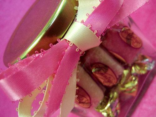 Picot Hot Pink & Picot Cream