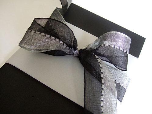 Black / Silver Gimp Stitch
