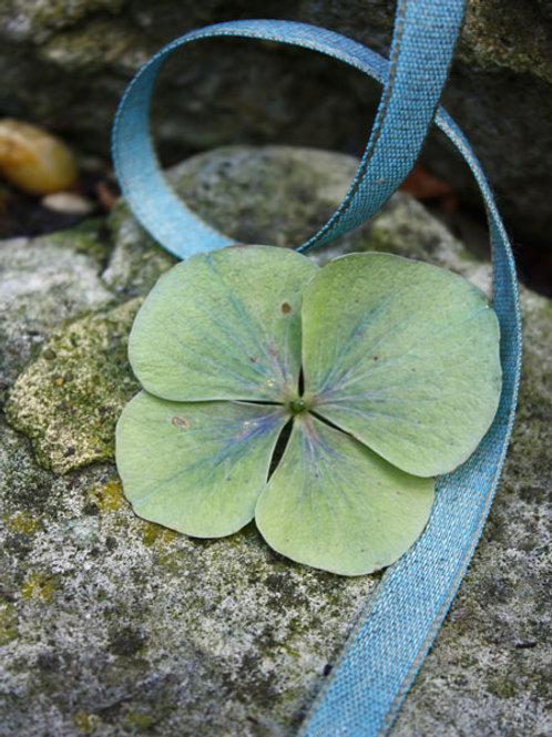 Turquoise Linen / Cotton Ribbon